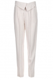 Fracomina |  Striped pants Bliss | beige  | Picture 1