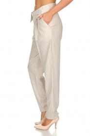 Fracomina |  Striped pants Bliss | beige  | Picture 4