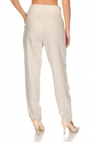 Fracomina |  Striped pants Bliss | beige  | Picture 5