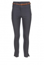 Fracomina |  High waist pants Stone | blue  | Picture 1