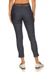 Fracomina |  High waist pants Stone | blue  | Picture 5
