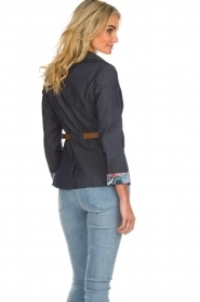 Fracomina |  Belted blazer Ella | denimblue  | Picture 5