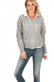 Cut-out sweater Montero | grey