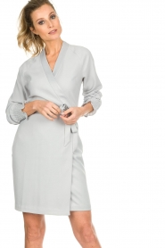 Dante 6 |  Wrap dress Ilyia | light grey  | Picture 2