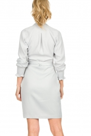Dante 6 |  Wrap dress Ilyia | light grey  | Picture 6