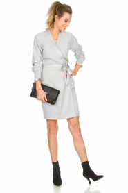 Dante 6 |  Wrap dress Ilyia | light grey  | Picture 3