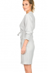 Dante 6 |  Wrap dress Ilyia | light grey  | Picture 5