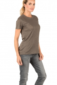IRO | Linnen T-shirt Clay | grijs  | Afbeelding 4