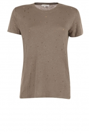 Linnen T-shirt Clay | grijs