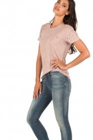 IRO | Linnen T-shirt Clay | roze  | Afbeelding 4