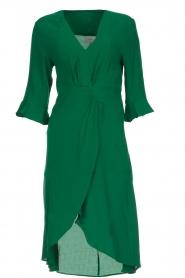 Dante 6 | Jurk met plooidetail Naomi | groen  | Afbeelding 1