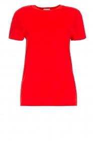By Malene Birger | 100% katoenen t-shirt Rionns | rood  | Afbeelding 1