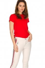 By Malene Birger | 100% katoenen t-shirt Rionns | rood  | Afbeelding 2