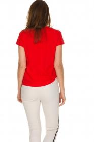 By Malene Birger | 100% katoenen t-shirt Rionns | rood  | Afbeelding 5