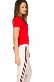 By Malene Birger | 100% katoenen t-shirt Rionns | rood  | Afbeelding 4