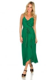 Dante 6 |  Dress with ruffles Isla | green  | Picture 2