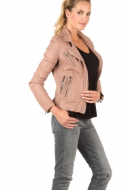 Leather biker jacket Han | old pink