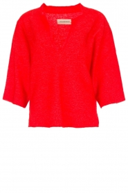 By Malene Birger |  Sweater Wanlay | red  | Picture 1