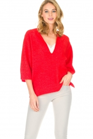 By Malene Birger |  Sweater Wanlay | red  | Picture 2