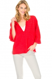 By Malene Birger |  Sweater Wanlay | red  | Picture 5