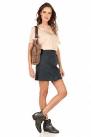 Denim button-front mini skirt Bahama | ink blue