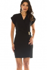 Dante 6 |  Dress with waist belt Une | black  | Picture 2