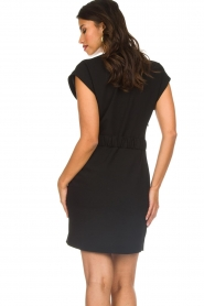 Dante 6 |  Dress with waist belt Une | black  | Picture 5