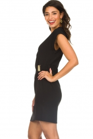 Dante 6 |  Dress with waist belt Une | black  | Picture 4