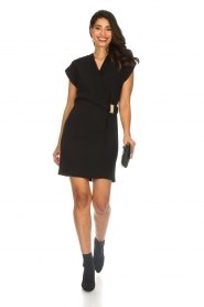 Dante 6 |  Dress with waist belt Une | black  | Picture 3