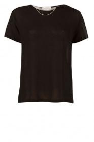 IRO | T-shirt met kettinkje Rikke | zwart  | Afbeelding 1
