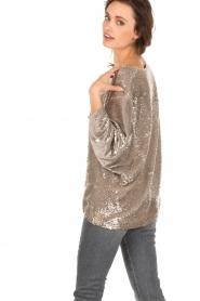 IRO | Pailletten trui Ayla | goud  | Afbeelding 5