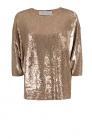 IRO | Pailletten trui Ayla | goud  | Afbeelding 1