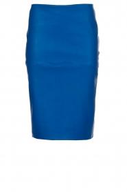 By Malene Birger | Leren kokerrok Floridia | blauw  | Afbeelding 1