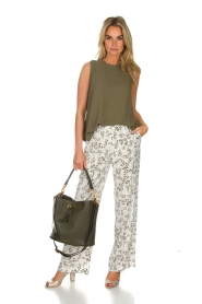 Dante 6 |  Floral trousers Emory | green  | Picture 3