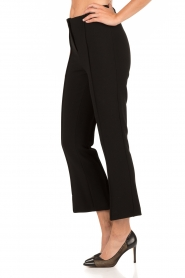 By Malene Birger | Cropped pantalon Scaled | zwart  | Afbeelding 4