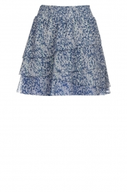 Dante 6 |  Printed ruffle skirt Chess | blue  | Picture 1
