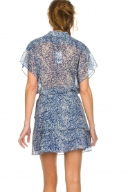 Dante 6 |  Printed ruffle skirt Chess | blue  | Picture 4