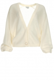 Dante 6 |  Knitted cardigan Sarina | white  | Picture 1