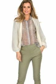 Dante 6 |  Knitted cardigan Sarina | white  | Picture 4