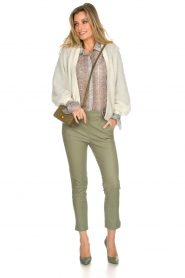 Dante 6 |  Knitted cardigan Sarina | white  | Picture 3