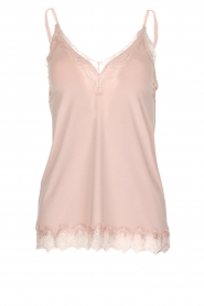 Top with lace Jasmin | old pink