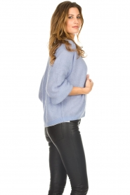 Dante 6 |  Knitted cardigan Sarina | blue  | Picture 5