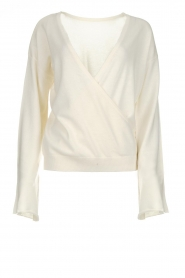Dante 6 |  Luxurious merino mix wrap sweater Avery | white  | Picture 1