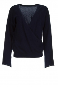 Dante 6 |  Luxurious merino mix wrap sweater Avery | blue  | Picture 1