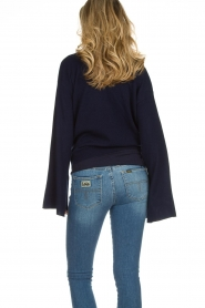 Dante 6 |  Luxurious merino mix wrap sweater Avery | blue  | Picture 5