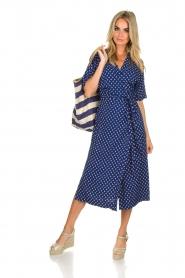 BEACHGOLD |  Wrap dress Olivia | blue  | Picture 2