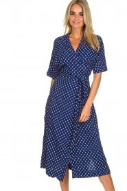 BEACHGOLD |  Wrap dress Olivia | blue  | Picture 3