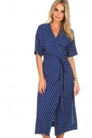 BEACHGOLD |  Wrap dress Olivia | blue  | Picture 4