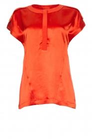 Dante 6 | Satijnen top Yila | oranje  | Afbeelding 1