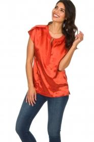 Dante 6 |  Satin top Yila | orange  | Picture 2